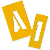 """Chartpak Painting Letters & Numbers Stencil, CHA01555, 2""""H, Yellow, Gothic Font, 35/Set"""