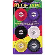 """Chartpak® Decorative Tape, DEC001, .13""""W X 27'L, Assorted"""