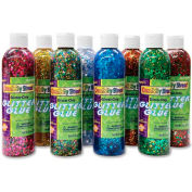ChenilleKraft Glitter Chip Glue, CKC8562, Assorted Colors, 8/Pk