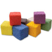 ChenilleKraft Squishy Foam Block, CKC9652-1, Assorted Colors, 8 Pieces/Set