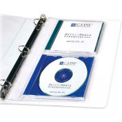 C-Line® CD Jewel Case Holder, 61968, 2 CD/DVD Capacity, 10/Pk, Clear