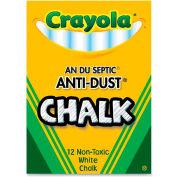 Crayola Anti-Dust Chalk - White, 12/Box