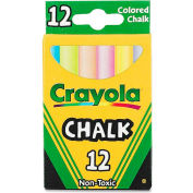 Crayola Colored Chalk - Assorted, 12/Box