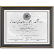 "DAX Hi-Gloss Document Frame, DAXN2709N6T, 11"" x 8.5"", Black Frame, 1 Each"