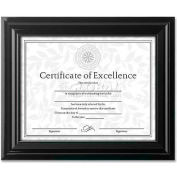 "DAX High Gloss Document Frame, DAXN3145N2T, 8.5"" x 11"", Black Frame, 1 Each"