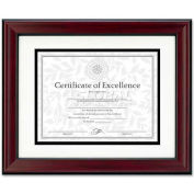"DAX Document Frame, DAXN3246S1T, 14"" x 11"", Rosewood & Black Frame, 1 Each"