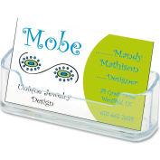 Deflect-o® Desktop Business Card Holder, Plastic, 1/Pk