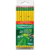 Ticonderoga Wood Pencil, #2 Pencil Grade, Yellow Barrel, 30/Box