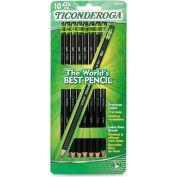 Ticonderoga Wood Pencil, #2 Pencil Grade, Graphite Lead, Black Barrel, 10/CD