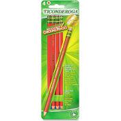 Ticonderoga Erasable Checking Pencil, Red Lead, Red Barrel, 4/Pk