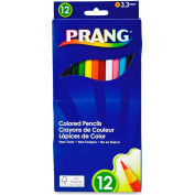 Prang Colored Pencils, Assorted Lead, Assorted Barrel, 12/Set