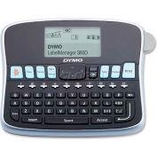 "Dymo® Label Maker, 1754488, 2 Lines Screen, 3 Fonts, 7-3/4"" X 5-7/8"" X 2-3/4"", Black/Silver"