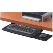 "Fellowes® Keyboard Drawer, 8031207, W/Wrist Supports, 20-1/2"" X 11-1/8"", Black/Silver"