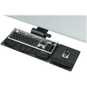 """Fellowes® Keyboard Tray, 8036001, Premier, Track 21-5/8"""", 28-1/5"""" X 21-1/4"""" X 5-3/4"""", Black"""