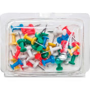 """Gem Office Products Push Pin Caddy - 0.37"""" Length - 40 / Pack - Assorted"""