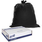 Genuine Joe Heavy-Duty Trash Bags, 1.50 Mil, 55-60 Gallon, Black, 50/Pk, GJO01535