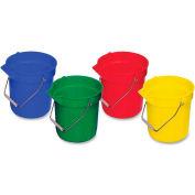 Genuine Joe Utility Buckets 10 Qt. 4-Pack, Multi Color - GJO02346 - Pkg Qty 4