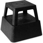 "Genuine Joe Structural Plastic Square Step Stool, 14-3/10"" X 14-3/10"", 350 Lbs., Black - GJO02428"