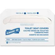 Genuine Joe Toilet Seat Covers - White, 250/Pk, GJO10150