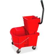 Genuine Joe Mop Bucket/Wringer Combo, 26 Qt., Red, GJO18800