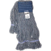 Genuine Joe Earth Mop Mophead Refill, Polyester, Large, Blue - GJO20124