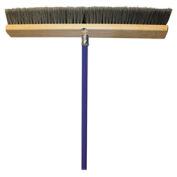 "Genuine Joe All-Purpose Sweeper, 24"" Wide, 60"" Handle, Gray - GJO20129"