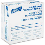 "Genuine Joe All-Purpose Reusable Cleaning Towel,16-1/2"" X 9-1/2"", 100/BX, White - GJO20275"