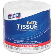 """Genuine Joe 2 ply, Embossed Roll Bathroom Tissue, 4"""" X 4"""", 550 Sheets/Roll, 80/PK - GJO2508080"""