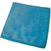 "Genuine Joe Microfiber Cloth, Gen. Purpose, Lint Free, 16"" x 16"", Blue, 12/Bag - GJO39506"