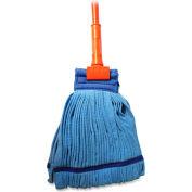 """Genuine Joe Microfiber Wet Mop W/60"""" Gripper Handle, Medium Blue Head - GJO47537"""