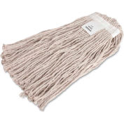Genuine Joe Mop Refill, No 24 Cotton, 4-Ply, White, GJO48254