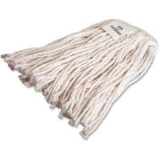 Genuine Joe Mop Refill, No 16 Rayon, 4-Ply, Cut End w/Headband, White, GJO48256