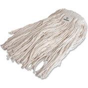 Genuine Joe Mop Refill, No 24 Rayon, 4-Ply, Cut End w/Headband, White, GJO48257