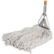 "Genuine Joe Wet Mop, 4-Ply, 15/16""x60"" Wood Handle, 24 oz., Natural Cotton, GJO54201"
