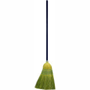 "Genuine Joe Janitor Broom, Corn Fiber Blend, 11"" W, 58"" Handle, Natural, GJO12001EA"