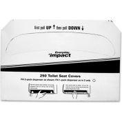 Genuine Joe Toilet Seat Covers, 1/2 Fold, White, 250/Pack, 20 Packs/Case GJO85125