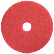 "Genuine Joe® 16"" Buffing Pad, Red, 5 Per Case"