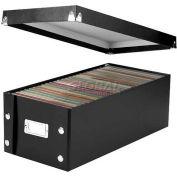 """IdeaStream® Snap-N-Store Storage Box, SNS01524, 7-5/8"""" X 15-3/4"""" X 5-1/2"""", Fiberboard, Black"""
