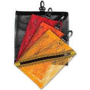 IdeaStream® Mesh Storage Bags, VZ01211, W/Zipper & Clip, 4/Pk, Assorted