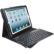 Kensington® Keyfolio Keyboard/Cover Case,  39512, For iPad/iPad2, Black