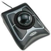 "Kensington® Corded Optical Mouse, 64325, 5"" X 5-3/4"" X 2-1/2"", Black/Silver"