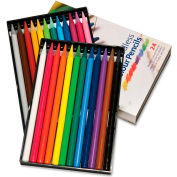 Koh-I-Noor Progresso Woodless Colored Pencil, 7.6 mm Lead Size, Assorted Lead, 24/Set