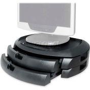 "Kantek LCD Stand, MS200B, Organizer, 2 Drawers, 18"" X 12-1/2"" X 4-3/4"", Black"