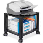 "Kantek Printer/Fax Mobile Stand, 2-Shelf, 17""x13-1/4""x14-1/8"", Black"