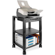 "Kantek Printer/Fax Stand, Mobile, 3-Shelf , 17""x13-1/4""x24-1/4"", Black"