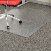 "Lorell® Economy Weight Office Chair Mat with Lip, 53""L x 45""W, 95 mil Thick, Clear"