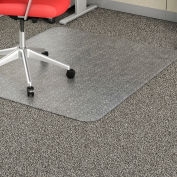 "Lorell® Economy Weight Office Chair Mat, 60""L x 46""W, 95 mil Thick, Clear"