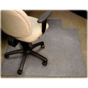 "Lorell® Diamond Anti-Static Office Chair Mat with Lip, 48""L x 36""W, 0.38"" Thick, Clear"