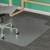 "Lorell® Diamond Anti-Static Office Chair Mat with Lip, 53""L x 45""W, 0.38"" Thick, Clear"
