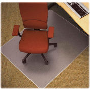 """Lorell® Anti-Static Office Chair Mat for Carpet - 60""""L x 46""""W, 0.75"""" Thick with Lip - Beveled"""